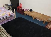 شقة للايجار مفروش غرفة وصاله ومطبخ وحمام