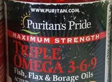 أوميجا 3 6 9 أمريكى 120 قرص omega