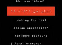 looking for nail design   and hair and massage