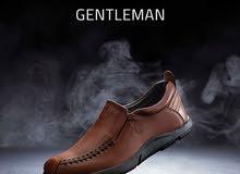 """الحذاء مصنوع من  الجلد الطبيعي 100% والنعل مستورد مصنوع من ال """"rubber""""  علشان نض"""