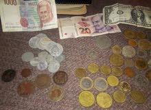 عملات قديمة تونسية واجنبية