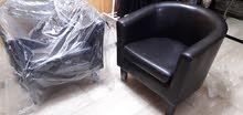 غنفات جلد طقم كرسين قابل للتفاوض  2  leather sofas