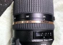 عدسة تامرون 24-70 mm تركب على كاميرا نيكون Nikon
