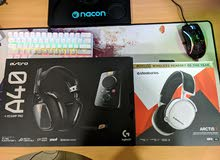 astro a40 logitech edition and steelseries arctis 7