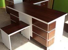 مكتب 160سم مع جانبية وادراج وطاولة 95