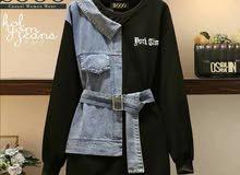 سويت شيرت جديد جينز لبنات الجامعه