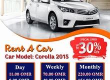 rent car muscat. corolla 2015