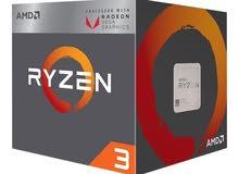 معالج كمبيوتر - CPU - AMD RYZEN 3 2200G Quad-Core 3.7GHz ( Vega RX 8)