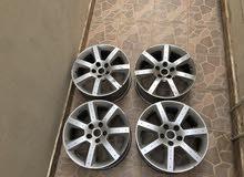 بيعة سريعة أربع رنقات أصليين لنيسان زد 350z النسخة الأمريكية (يركبون على كل السيارات اليابانية)