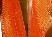 سمك سلمون. فيليه فرش نرويجي