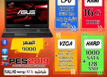(ASUS RAPUBLIC GAMERS رمات 16 جيجا هارد 1000 ساتا + هارد 128+فيجا NVIDIA GTX 660M)