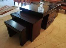 طاولات وسط 5 قطع + خزانات احذيه + مراي