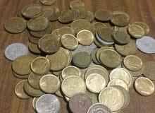 عملات معدنية قديمة 5مليمات و10مليم و1قرش  حتى20 قرش
