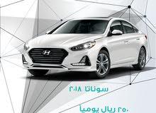 Hyundai Sonata 2018 For Rent - White color