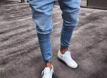 بنطلون جينز خفيف مررن الكميه محدوده