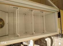 glass door freezer working is good