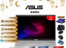 "laptop asus core i3 10gen 4G ram 1T hdd 14"" monitor الوان"