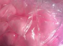 حلاوة قطن غزل البنات اللون الوردي السعر حسب الطلب