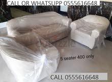 طقم أريكة بتصميم حديث للبيع   brand new sofa set for sale