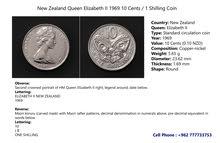 New Zealand 10 cents, 1969