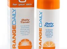 تونر من براند orange daily لتفتيح البشرة