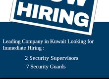 Security Supervisor and Security Guards