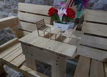 تصميم جلسات ريفيه (طاولات +كراسي إلخ....)