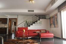 شقة طابق ثاني مع روف دوبلكس جميلة مفروشة للايجار في دابوق , مساحة البناء 260م مساحة التراسات 220 م