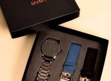 طقم ساعة MVMT كامل ؛ يعني معاك ساعه باوستيكين اتنين جلد؛ وواحد ثالث معدن