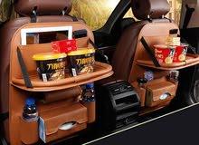 منظم مقعد السيارة الخلفي مع حامل الطعام القابل للطي