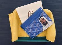 Goyard Saint Sulpice Card Holder Goyardine Royal Blue in Coated Canvas(customized
