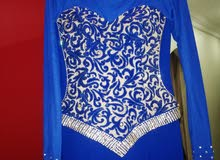 blue soiree dress