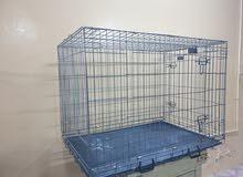 Folding Metal Cage - Heavy Duty Double Door قفص