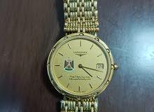 ساعة نادرة نوع لونجين اصلية مطلية بالذهب