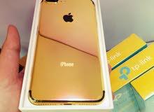 Iphone   7plus  gold  128GB Like New ايفون :7 (بلس) لون :  gold مطلي ذه