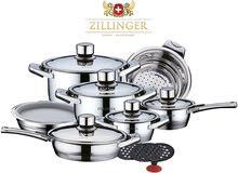 طقم حلل مطبخ 8 قطع _ مجموعة أواني الطبخ Zillinger Deluxe الفاخرة