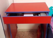 red wood desk