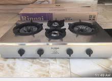 للبيع غساله جديده وغاز طبخ اثنين مستخدم وثلاجه ماء