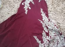 فستان سهرة  نقش جديد بحجم 42 و44