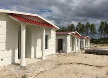 بناء منازل واستراحات بنظام الحديد البارد