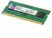 مطلوب رامات   DDR3 لجهاز لاب توب حجم 4 قيقا