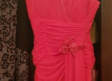 فستان فوشي طويل