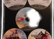 دسكة PS4 و 4 دسكات PS3 للبيع