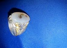 خاتم يمني عقيق حجر طبيعي