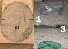 مصايد ومقانص للطيور والحيوانات المؤذيه والصفارد والحمام وغيرها