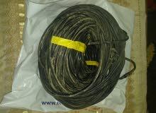 لفة سلك دش 45 متر اللون اسود اخر 10 متر ملحمة مستعمل