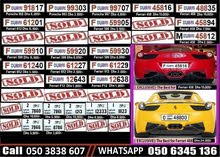 Car and Motorcycle Number Plates