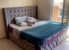 grey bed king size / mattress / تخت رمادي كينج سايز