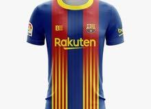 قميص برشلونة للكلاسيكو ملون أحمر و ازرق و اصفر 2XL