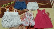 ملابس اطفال ماركات  ( فستان - سالوبيت - شورت )